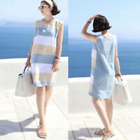 Summer Dress Women Sleeveless Dresses Boho Line Sundress Casual Women ClothingJC