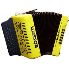 Rossetti Pro Series VALENTINO FBE FA 31 Button Diatonic Accordion Yellow + Case
