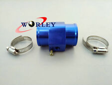 30mm Water Temp Temperature Joint Pipe Sensor Gauge Radiator Hose Adapter BLUE