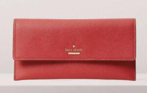 NWT Kate Spade Cameron Street Harling Leather Slim Envelope Wallet