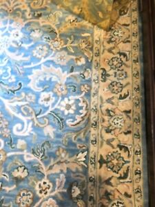 Vintage Large Wool Rug 5' X 8' Very Good Condition, From India
