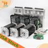 wantai 3aixs Nema34 stepper motor  (1700oz-in) 151mm 6A 5.7V,CNC KIT