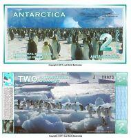 Antarctica 2 Dollars 1996  Banknotes  UNC