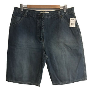 *NWT* BLUE RIDGE Size 16 Ladies 5-Pocket Mid-Length Blue Denim Shorts