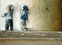 A4 BANKSY ART PHOTO PRINTS FOR 99P (GRAFFITI KIDS)