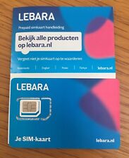 Anonym Lebara Holland 3 In 1 Prepaid sim Karte: 4G Aktiv Ohne ID & Einsatzbereit
