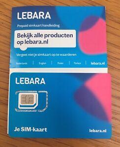 Lebara Holland 3 In 1 Prepaid sim Karte: 4G Anonym Aktiv Ohne ID & Einsatzbereit