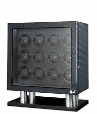 VOLTA Automatic 12 Watch Winder Carbon Fiber Signature Series Box Display Case