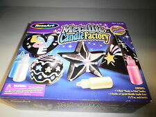 ROSEART 1389 METALLIC CANDLE FACTORY WITH 4 BLACK CANDLES AGES 12 & UP NEW