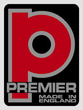 Premier Drums type vinyl shell badge/decals - FIVE COPIES ONLY (self adhesive).