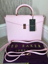 TED BAKER BABY PINK LEATHER STRUCTURED HAND/SHOULDER BAG RETAIL £199