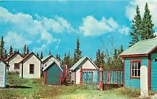 1950s Postcard; Above Ground Indian Graveyard at Champagne Yukon Canada Unposted
