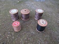 Wooden Cotton Reel Threads wardle & davenport barbours grace threads needle sew