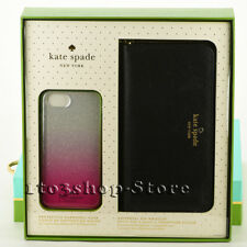 Kate Spade Universal Zip Wristlet and iPhone 6/6S Black & Pink Case Gift Box Set