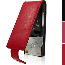 Rot Leder Flip Tasche Schutzhülle für Sony Walkman NWZ-A15 A17 Etui Case Cover