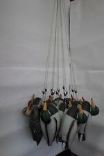 "QUAN OF 36 CAMO GREEN DUCK DECOY TEXAS READY RIGS  4 OZ  48""    3 DOZEN  SLIDING"