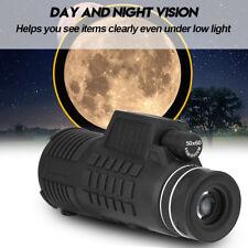 Impermeabile Monoculare 50X60 Zoom HD Telescopio+ Treppiedi+ Clip Per Cellulare