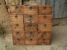 meuble métier ancien tiroir usine CPA pin massif 1910 atelier garage industriel