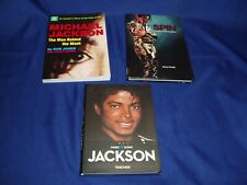 3 Michael Jackson Books 2 From 2009  Spin Book 2011