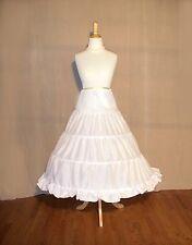 NEW SCA Wedding-Civil War-Victorian White Cotton 4 Ring HoopSkirt Not Plastic