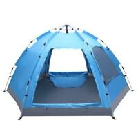 US 3-4Person Camping Dome Tent Instant Pop Up Waterproof 2Layer Sun Canopy 2Door