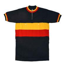 MAGLIA BELGIO AL TOUR DE FRANCE Ciclismo Vintage Bike Jersey Made in Italy