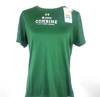 UA Under Armour Womens T Shirt Heat Gear Green Size Large Loose Fit AVCA Combine