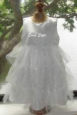Beautiful White Flower girl/ Wedding party baby girl dress in size 18 Months