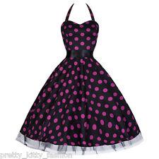 Vestiti da donna stile anni'50, rockabilly nero in misto cotone