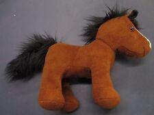 Plush Brown BATTAT Horse 11 inch White Nose Black Tail and Mane