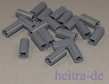 LEGO Technik - 20 x Hülse / Verbinder dunkelgrau / Axle Connector 6538c NEUWARE