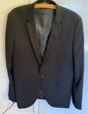Cedar Wood State Black Suit Jacket 44 Regular Skinny Fit