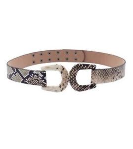 Sheike Cobra Snakeskin Belt M/L Bnwt