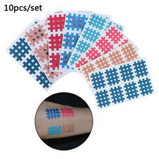 10sheets Spiral Cross KinesiologyTape 3mm X 4mm 9pcs/sheet Physical Cross Tape
