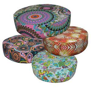 "2""Thick-Round Box Shape Cover*Paint Cotton Canvas Chair Seat Cushion Case*AF6"