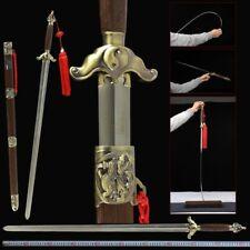 YinYang TaiChi KUNGFU soft Sword stainless steel Ridged Blade Free lettering #25