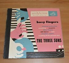 "The Three Suns Busy Fingers 78rpm 10"" Record Set RCA Victor 1949"