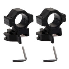 """2PCS 1"""" Low Profile Rifle Scope Rings for Picatinny/Weaver Rail Quick Release"""