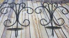 Metal Candle Holder Sconce Wall Hanger Set of 2