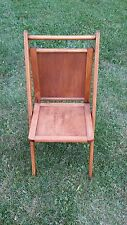 VINTAGE WOODEN FOLDING CHAIR BY ACME CHAIR COMPANY