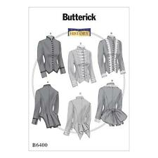 Butterick Sewing Pattern B6400 Making History - Victorian Boned Jackets Sz 14-22