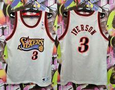 PHILADELPHIA 76ERS SIXERS IVERSON #3 NBA BASKETBALL JERSEY CHAMPION MENS SIZE L
