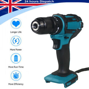 For Makita 18V Cordless Combi Drill Impact Brushed 2-Speed Power Bare Tool NEW