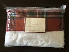 NEW! POTTERY BARN LINEN TABLECLOTH COORDINATES WITH REINDEER COLLECTION PLATES