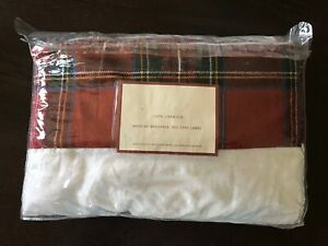 "NEW! POTTERY BARN LINEN TABLECLOTH 70x108"" match with REINDEER COLLECTION PLATES"