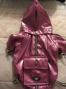 Ancol Small Bite Waterproof Dog Coat Mac Purple Pink Brand New Size Small