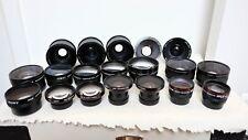 Vintage AUX camera lens lenses JOB LOT bundle SIGMA HAMA ETC SLR DSLR