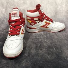 Etonic Akeem The Dream Red & White Men's UK Size 7 Trainers Hi Top Sneakers NBA