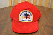 Vintage I Support Operation Desert Storm Adjustable Snapback Cap Hat Red