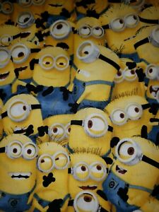 100% Cotton Despicable Me Minions All Over Quilting Treasures Fabric 1/4 Yard